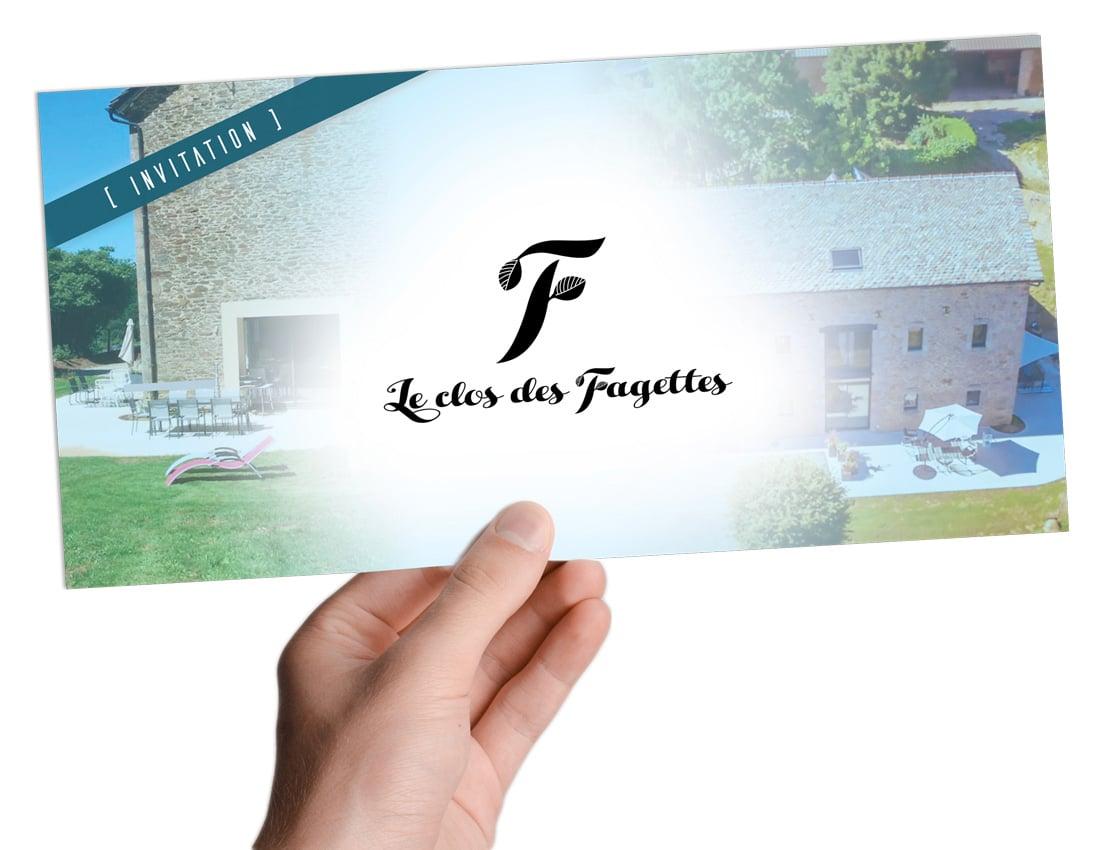 Carton d'invitation pour l'inauguration du gite