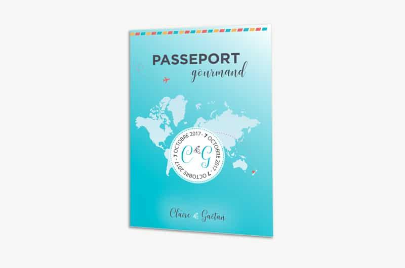 Menu passeport thème voyage